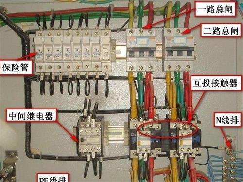 配电柜中接xian规fan和调试注意事项